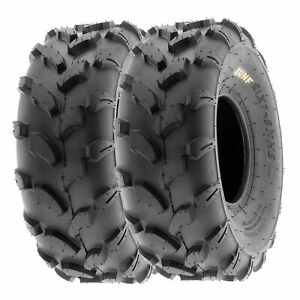 SunF 18x7-8 ATV UTV Tires 18x7x8 All Terrain Tubeless 6 PR A003  [Set of 2]
