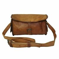 "13"" Genuine Soft Leather Men's HandBags travel tote duffle gym shoulder Bag"