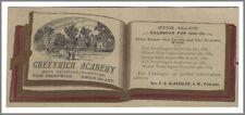 Rhode Island - 1882 Bookmark Greenwich Academy,  school  library librarian