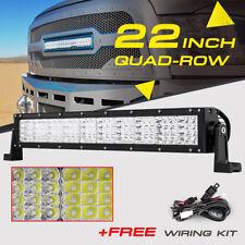 "CREE 22INCH 1440W QUAD-ROW LED WORK LIGHT BAR SPOT FLOOD OFFROAD TRUCK 4X4WD 24"""