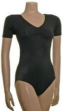 Ladies Plus size Cotton Leotard Short Sleeve Gath'd Bust (#JANE)