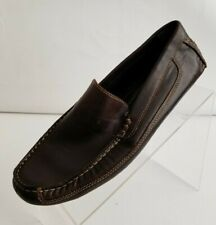 J Ferrar JF Loafers Moc Toe Driving Mens Brown Leather Slip On Shoes Size 8M