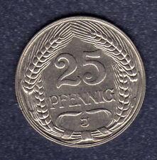 """25  Pfennig Kaiserreich 1910   J   """" in Sehr Schön """""""