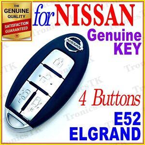 NISSAN ELGRAND SMART KEY / INTELLIGENT KEY / 4 BUTTONS - E52 SERIES