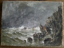 Emile Maillard école française du XIXème huile sur toile marine