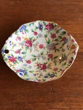 """Vintage Royal Winton Grimwades Chintz Oval Sweets Dish - """"Old Cottage Chintz"""""""