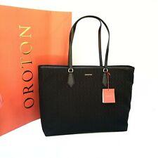 New Oroton Signet Handbag Tote Shoulder Bag Black Leather SALE