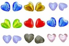 Silver Foil Heart Jewellery Making Craft Beads