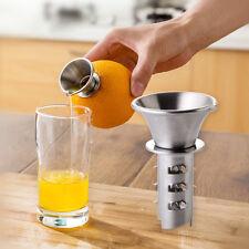 Kitchen Bar Stainless Steel Lemon Squeezer Citrus Lime Hand Juicer Press Tool AU