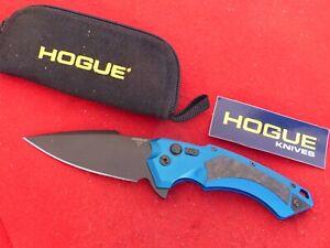 "Hogue Sig Sauer  Spear Point Flipper Knife blue + carbon fiber-4"" Black-"