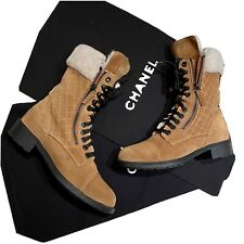 Chanel Suede sheepskin Winter Boots 38,5
