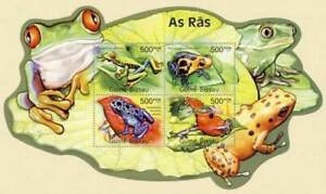 Guinea-Bissau - Frogs on Stamps - 4 Stamp Sheet GB11608a