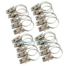 20Pcs Stainless Steel Strong Hanging Window Curtain Rod Clips Rings Hook Clamp