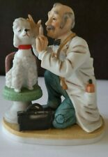 LEFTON China Veterinarian Examining a Poodle Figurine Hand Painted Japan #7270