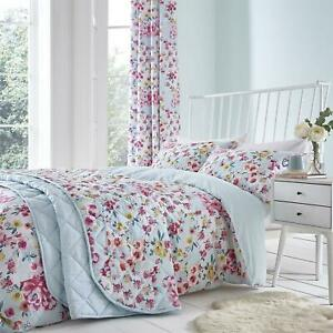 Catherine Lansfield Floral Patchwork Duvet Cover Set or Curtains or Bedspread
