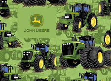 JOHN DEERE FABRIC  TRACTOR FLIP FARM FIELDS SPRINGS CREATIVE COTTON  BY THE YARD