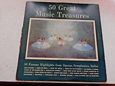 Vinyl Lp.50 Great Music Treasures 2-Rec Set Operas, Ballet, Symphonies