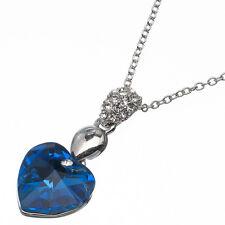 7.48ct Corte Corazón Estilo Forma Azul Zafiro Cz 18 Ct Bañado en oro blanco