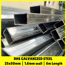 25x50mm 6m RHS Galvanised Steel Rectangular Steel Tube Mill Finish