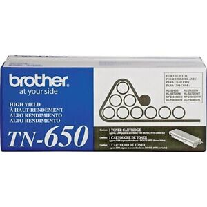 BROTHER TN650 Black Toner Cartridge * Brand New & Sealed * TN-650 Toner