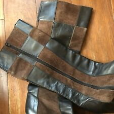 Authentic Vintage Leather Patchwork Boots 10