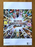 2008 Official Super Smash Bros. Brawl / Super Paper Mario Wii 2-Sided Poster