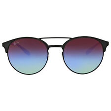 Ray Ban Blue-Violet Gradient Lenses Round Sunglasses