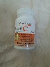 PlusPharma Vitamin C 500mg Supports Immune System, 100 Tablets - Exp 02/21