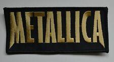 METALLICA - Gold Logo - 13 cm x 6 cm - Patch - 165863