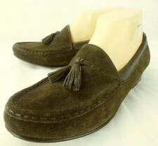 Gap Womens Shoes Loafers US 8.5 M Brown Suede Slip-On Moc Toe Tassels Italy 4980