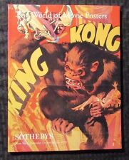 1999 Sotheby's World Of Movie Posters Auction Catalog Nm Sc King Kong