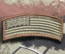 US AMERICAN FLAG ROCKER TAB TACTICAL ARMY US FOREST VELCRO® BRAND FASTENER PATCH
