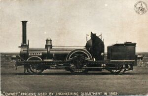 """""""DWARF"""" ENGINE USED BY ENGINEERING DEPARTMENT IN 1862  - OLD POSTCARD, 1910"""