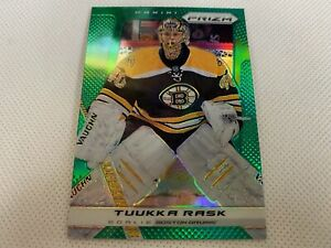 ⭐️👀 2013-14 Panini Prizm Prizms Green #4 Tuukka Rask Boston Bruins