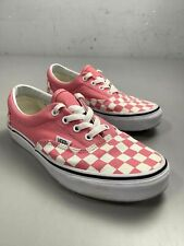 Women's Vans Pink Checkered Shoes Size 7.5