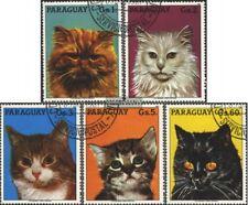 Paraguay 4079-4083 (compl.edición) usado 1987 gatos