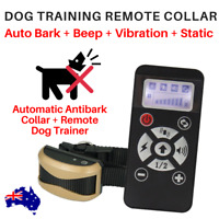 DOG REMOTE COLLAR TRAINER  + AUTOMATIC BARK Stopper 730M STATIC BEEP VIBRATION