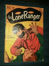 Lone Ranger # 34 VG- dell golden age red shirt western comics lot run set movie