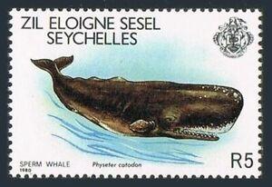 Seychelles Zil Sesel 22,MNH.Michel 22. Marine life 1980.Sperm Whale.