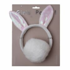 Bunny Rabbit Ears Girls Fancy Dress Hen Party Soft Furry Hair Band and Tail Set