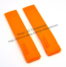 21mm Orange Rubber Watch Strap Band Compatible For Tissot T-Race T048 , T027