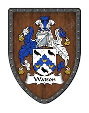 Watson Family Crest Custom Coat of Arms, Hanging Wall Shield SH503PDGHG