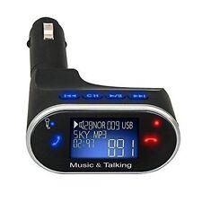 Black Bluetooth Car Kit Radio Adapter Handsfree FM Transmitter LCD MP3 Player EK