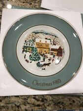 "Avon 1980 ""Country Christmas"" Collector Porcelain Plate 8 5/8� - Original Box"