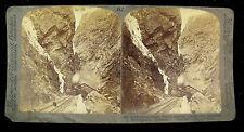 Underwood & Underwood Stereoview Card - Railway Hanging Over Arkansas River