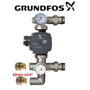 GRUNDFOS-UPM3 -WARMER-WILO-130mm PUMP MIXER SET BLENDING VALVE
