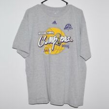 Rare adidas 2009 NBA Champions LA Lakers Tee T Shirt Large Kobe Shaq