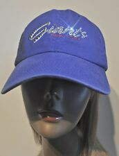 New York Giants Bling Womens Script Hat Cap Worlds Finest Crystal Rhinestones