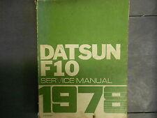 1978 DATSUN F10 F-10 Service Repair Shop Manual Factory OEM 78 DEALERSHIP X