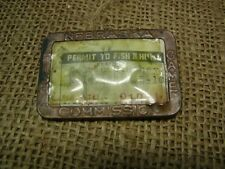 Vintage 1939 Hunting Fishing License > Antique Nebraska